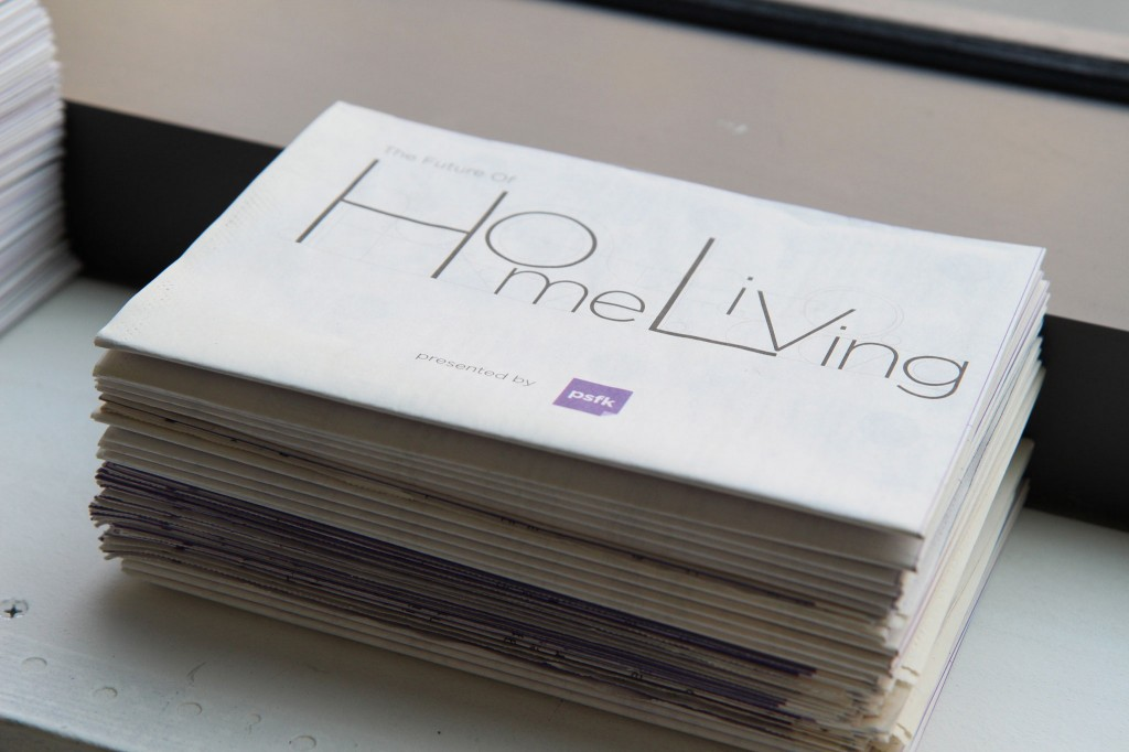 PSFK Future of Home Living - Product Guide Folded