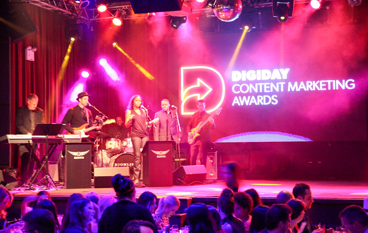 Digiday Content Marketing Awards Show