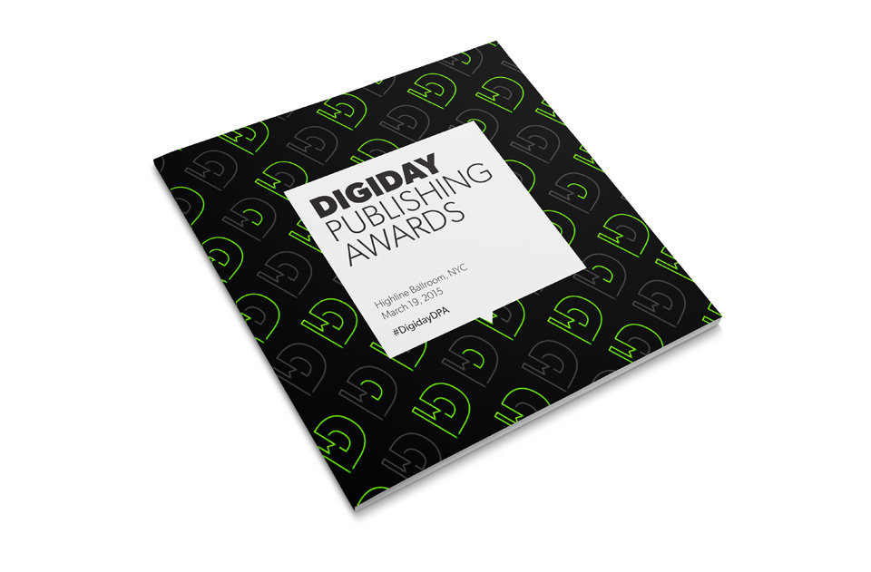 Digiday Awards - Agenda Cover