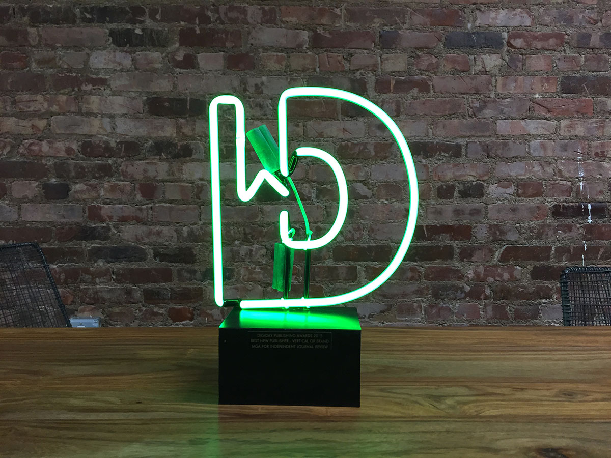 Digiday Publishing Award