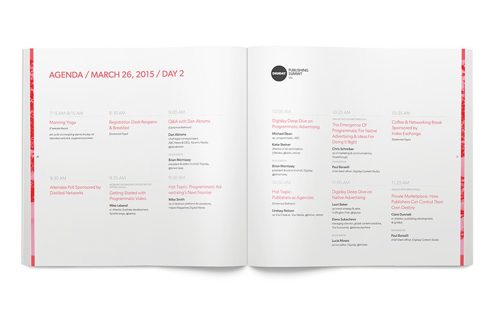 Digiday Summit Agenda - Schedule