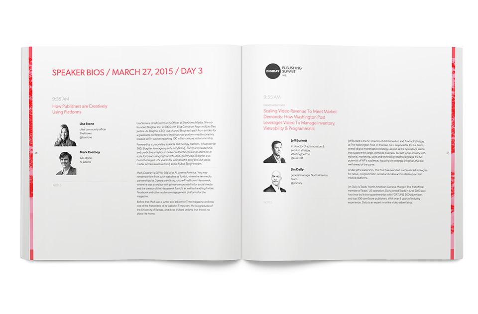Digiday Summit Agenda - Speaker Bios
